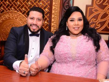 شيماء سيف من زفافها