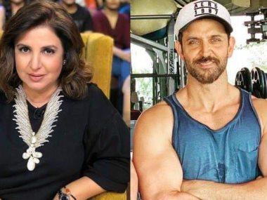 الممثل البوليودى ريثيك روشان والمخرجة الهندية فرح خان