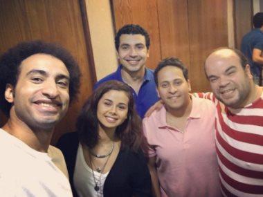 منة عرفة مع فرقة مسرح مصر
