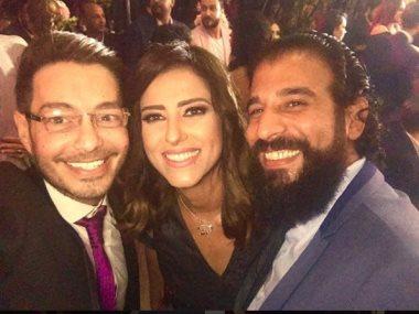 أحمد زاهر وحنان مطاوع وزوجها أمير اليمانى