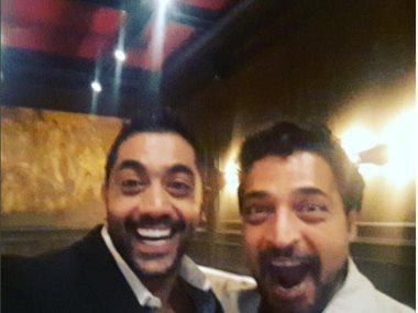 أحمد فلوكس مع حميد الشاعرى