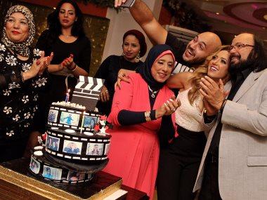 طلعت زكريا يحتفل بعيد ميلاد ابنته إيمى