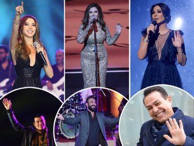 إليسا ونانسى عجرم ونادية مصطفى وحكيم وأحمد سعد وإيهاب توفيق