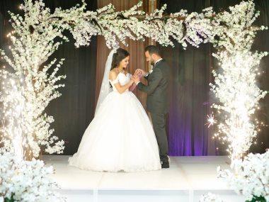 نجوم الفن والمجتمع فى زفاف معتز الباسوسى وثمر الجنة سامى