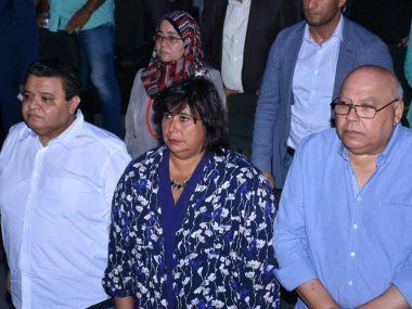 إيناس عبد الدايم فى المسرح