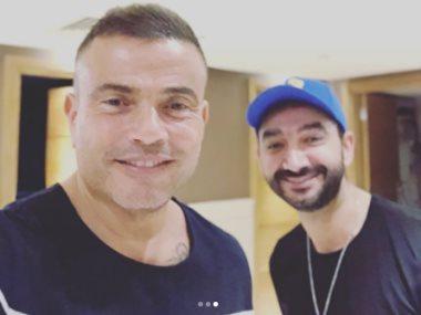 عمرو دياب و نادر حمدى