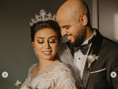 مى إبراهيم فى حفل زفافها