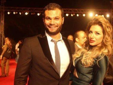 الفنان أحمد عبدالله محمود وزوجته سارةنخله