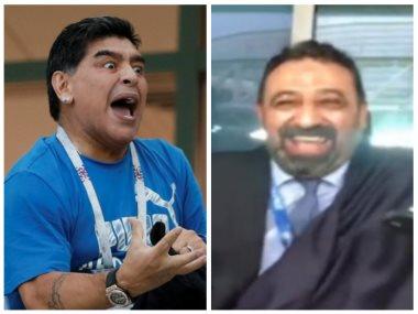 رد فعل مجدى عبد الغنى ومارادونا