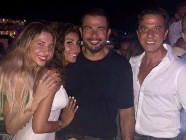 عمرو دياب ودينا الشربينى