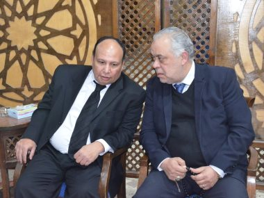 أشرف زكى و محمود عبد الغفار