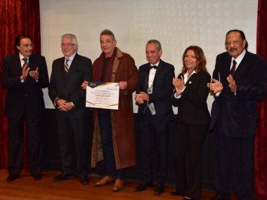 جانب من حفل توزيع جوائز استفتاء السينما المصرية
