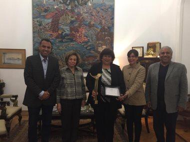 جانب من تكريم وزيرة الثقافة إيناس عبد الدايم