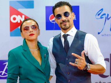 أحمد داود وزوجته علا رشدى
