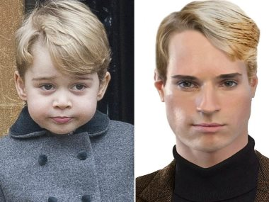 الأمير جورج فى صورة متوقعة له بعد 20 عاما