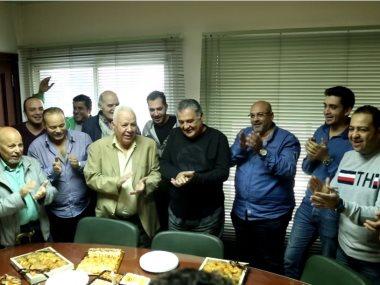 """أسرة شركة """"مزيكا"""" تحتفل بعيد ميلاد محسن جابر"""