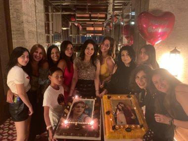 دينا فؤاد تحتفل بعيد ميلادها