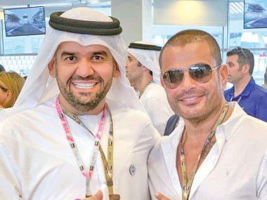 عمرو دياب و حسين الجسمى