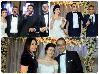 تامر حسنى وبوسى وعدوية في زفافا مريم وانطوي