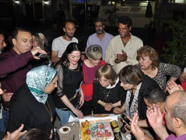 حفل إفطار مازن السماحى بطل العالم لذوى القدرات الخاصة