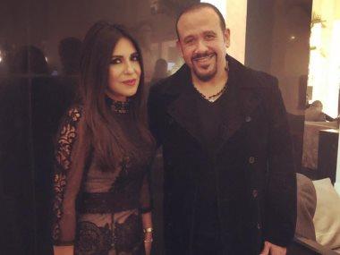 هشام عباس مع انجى أنور
