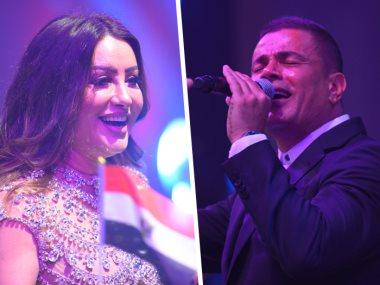 عمرو دياب ولطيفة
