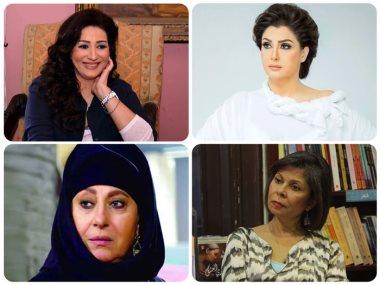 غادة عبدالرازق ووفاء عامر وسلوى محمد على و سهير مرشدى