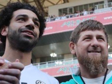 محمد صلاح و رئيس الشيشان