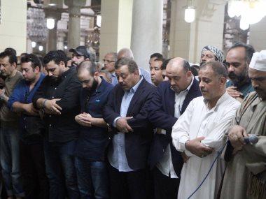 جنازة الراحل والد الإعلاميين عمرو وعلاء الكحكى