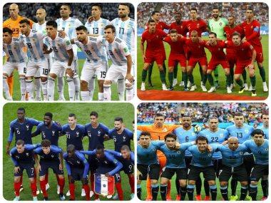 الأرجنتين وفرنسا وأوروجواى والبرتغال