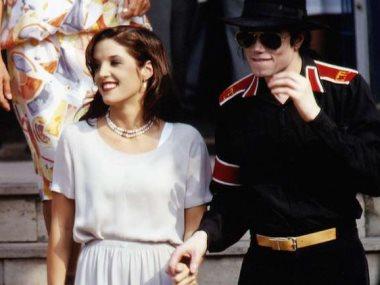 مايكل جاكسون وزوجته