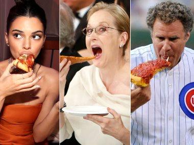 نجوم تاكل البيتزا