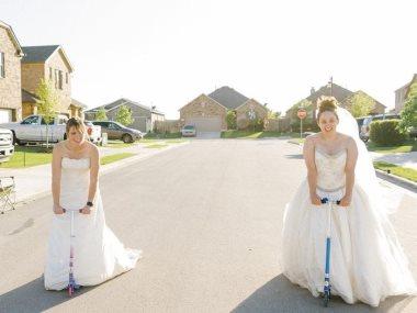 فوتوسيشن فساتين الزفاف