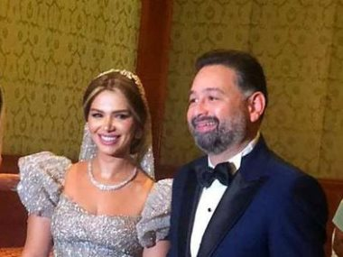 أمير شاهين وزوجته