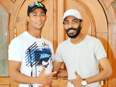 محمد رمضان وشقيقه محمود