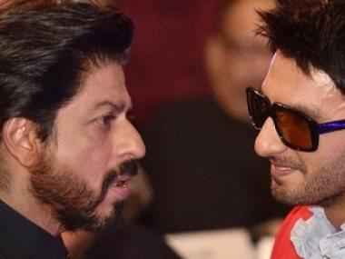 الممثل الهندى رانفير سينج مع كلا من اميتاب باتشان وشاروخ خان