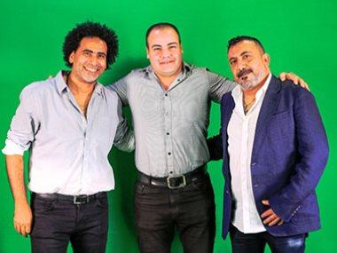 رئيس التحرير عمرو صحصاح يتوسط نصر محروس ومصطفى شوقى