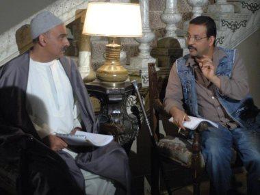 جمال سليمان مع مصحح اللهجة الصعيدى حسن القناوى