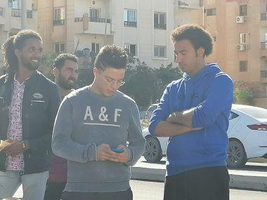محمد عمرو الليثى مع على ربيع فى كواليس مسلسل عمر ودياب