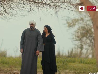 ياسر جلال و مى عمر فى مسلسل الفتوة