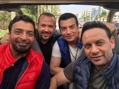 حميد الشاعرى ومصطفى قمر وإيهاب توفيق وهشام عباس