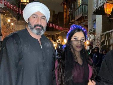 ياسر جلال ومى عمر من كواليس مسلسل الفتوه