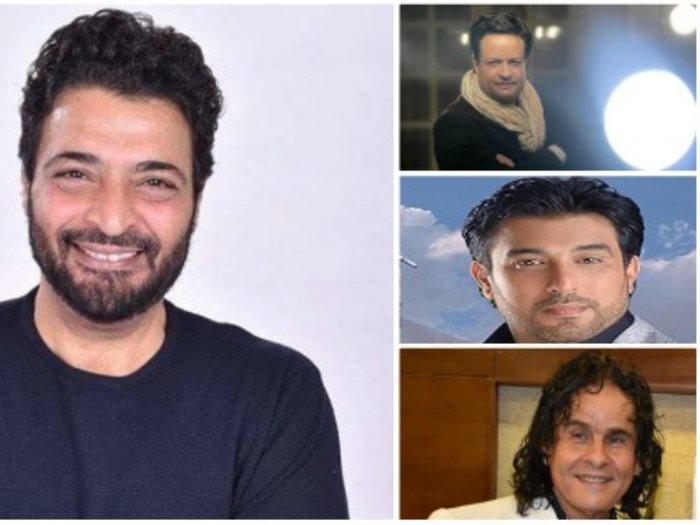 حميد الشاعرى وعلى حميدة وحسام حسنى وعادل الخضرى