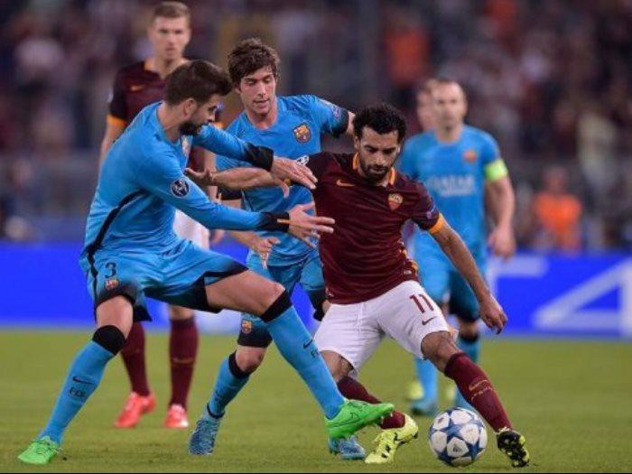محمد صلاح أمام برشلونة