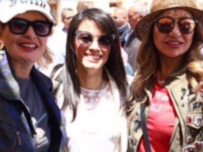 ليلى علوى و وزيرة السياحة و يسرا