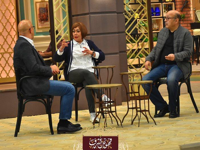 هالة فاخر وحجاج عبد العظيم مع أشرف عبد الباقى