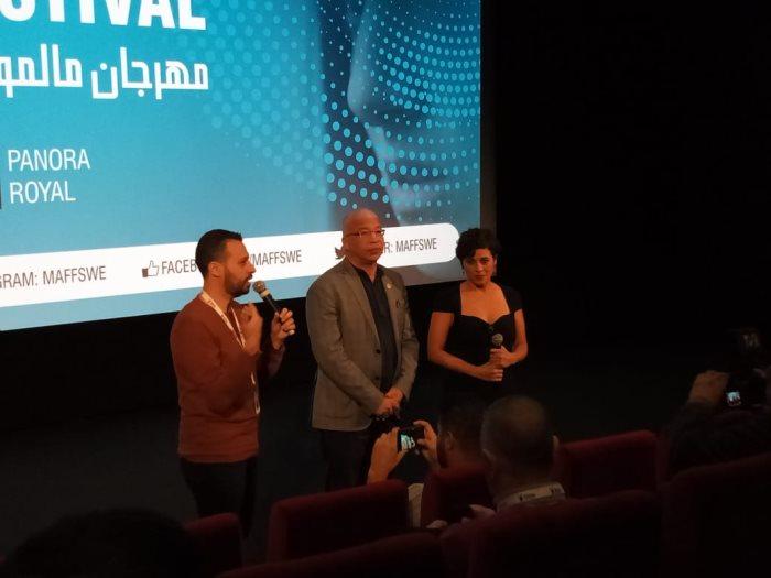 جانب من ندوة فيلم ليل خارجى فى مهرجان مالمو