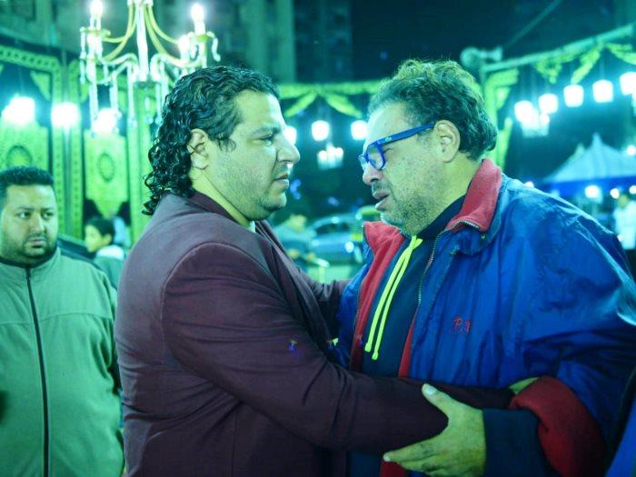 جانب من عزاء الفنان الراحل شعبان عبد الرحيم