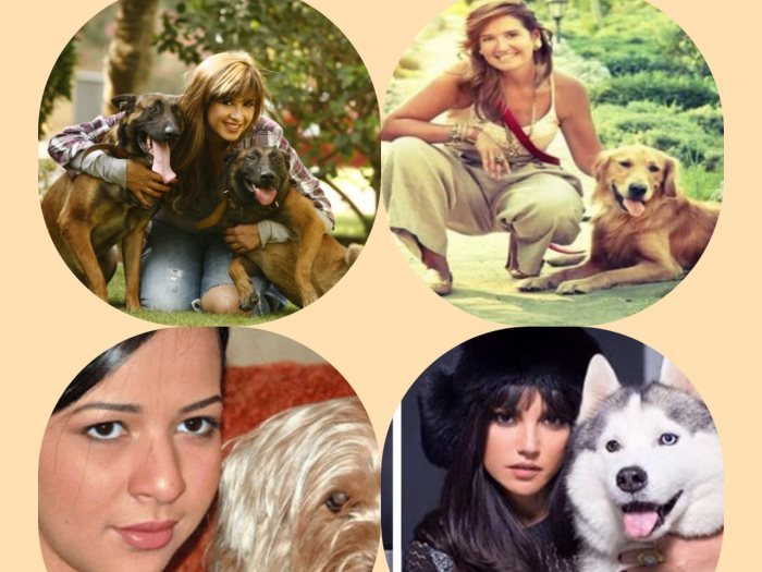 الفنانات وكلابهن