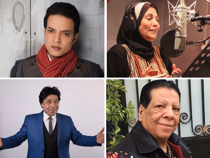 فاطمة عيد وطارق الشيخ وشعبولا وحمدى باتشان